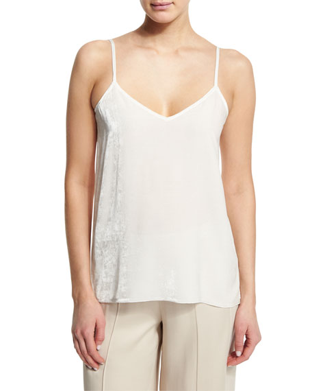 ATM Anthony Thomas Melillo Featherweight Velvet V-Neck Camisole,