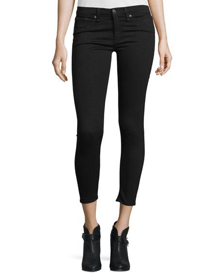 rag & bone/JEAN Nero Capri Denim Jeans, Black