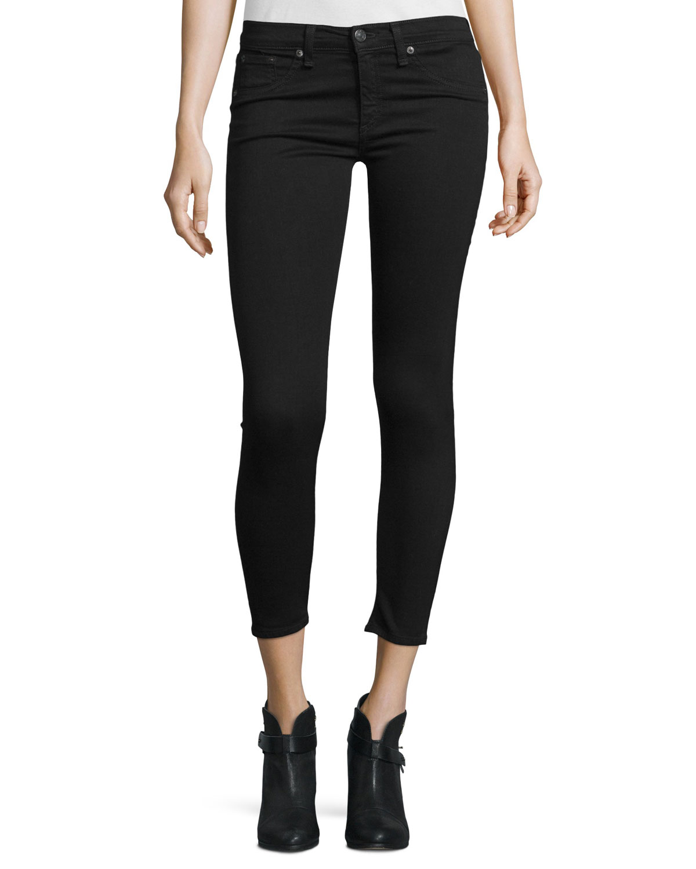 Victoria, Victoria Beckham Woman Faded Mid-rise Slim-leg Jeans Dark Denim Size 28 Victoria Beckham