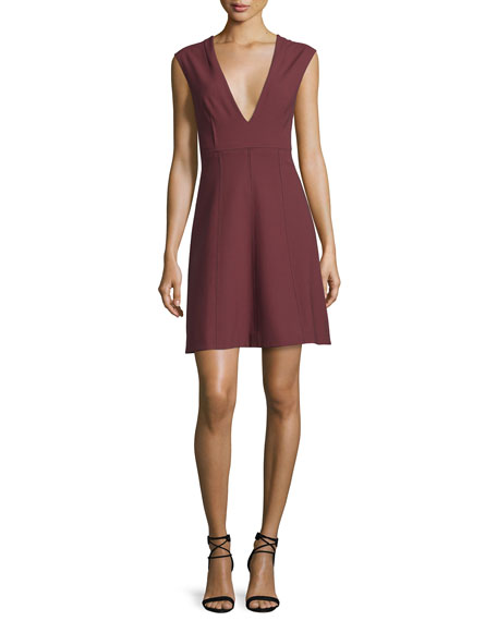 Elizabeth and James Charlie Sleeveless V-Neck Stretch Dress,