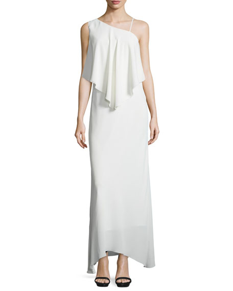 Elizabeth and James Ellie Chiffon Popover Gown, Ivory