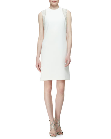 Carmen Marc Valvo Sleeveless Embellished Cocktail Dress