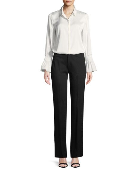 Riley Plant Fashion Slim Trousers, Black
