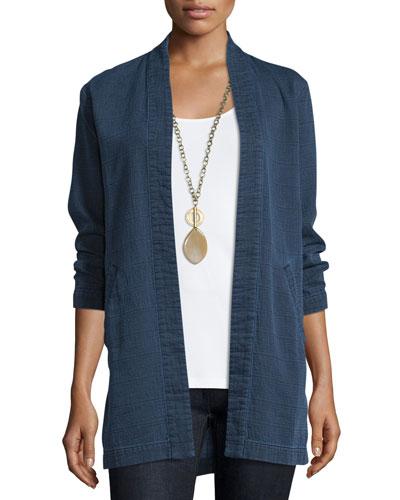 Fisher Project Bracelet-Sleeve Denim Kimono Jacket, Indigo
