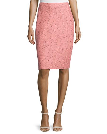 St. John Collection Village Tweed Pencil Skirt,