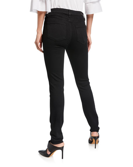 Hoxton Ultra-Skinny Ankle Jeans, Black Shadow