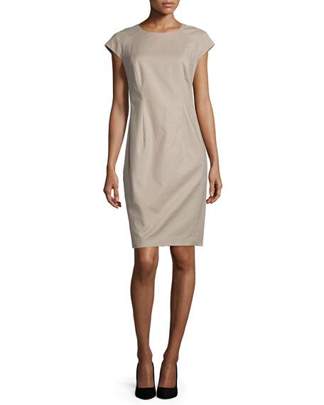 Lafayette 148 New York Savita Cap-Sleeve Sheath Dress,
