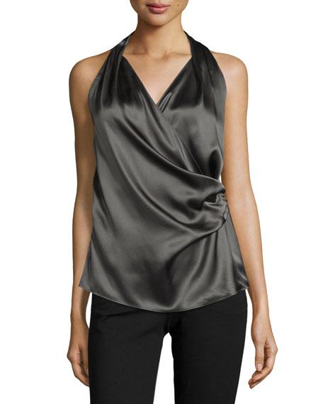 Lafayette 148 New York Romy Draped Silk Sleeveless
