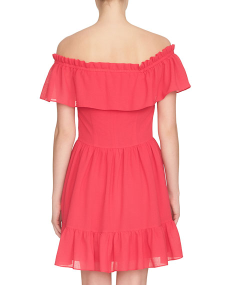 Scarlett Off-the-Shoulder Ruffle Mini Dress