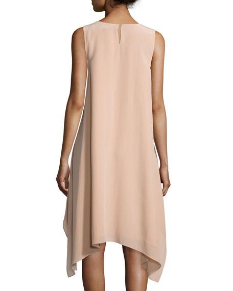 Sleeveless Knee-Length Silk Dress