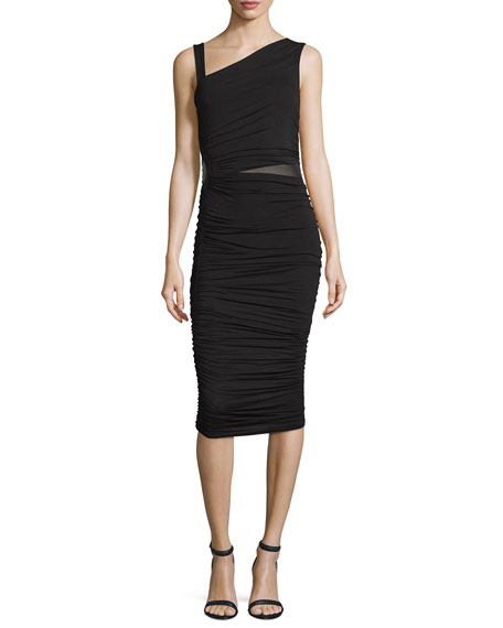 Bailey 44 Mahave Sleeveless Ruched Midi Dress, Black