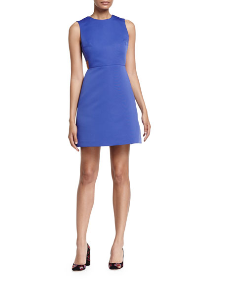 kate spade new york sleeveless cutout mini dress