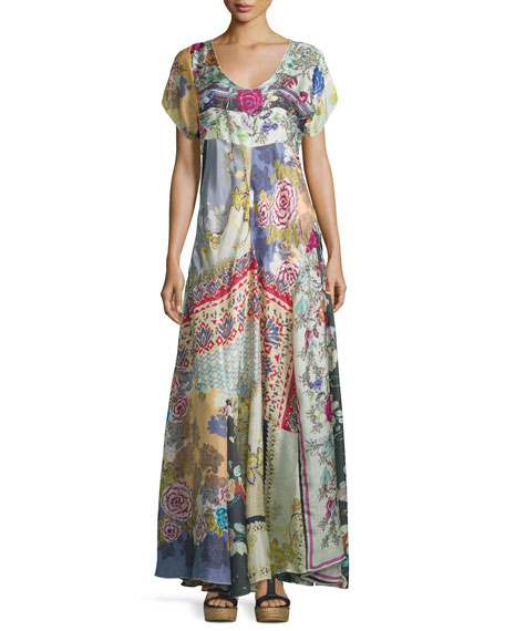 Johnny Was Dolce Vivo Patch Maxi Dress, Multi