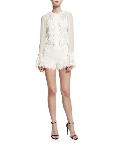 Gigi Lace Shorts, Ivory
