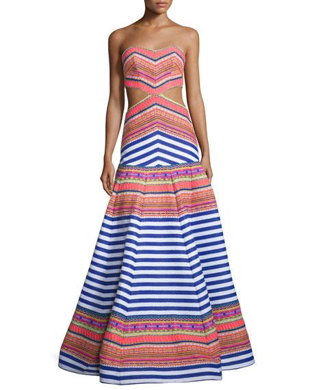 Alexis Zuzu Strapless Striped Maxi Dress
