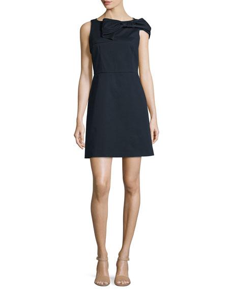 RED Valentino Bow-Top Sleeveless Dress, Navy