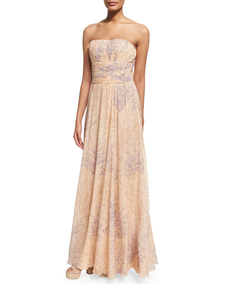 Strapless Corset Gown, Nude