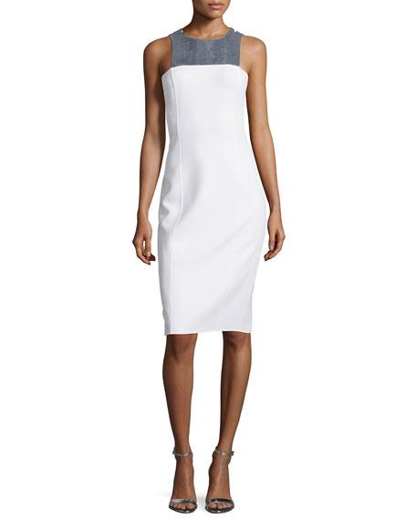 Michael Kors Collection Embellished Halter-Neck Sheath Dress,