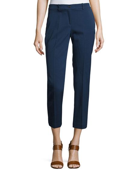 Michael Kors Collection Samantha Skinny Cropped Pants, Blue
