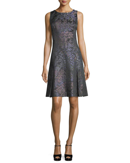 Michael Kors Collection Sleeveless Floral-Print Dress, Black