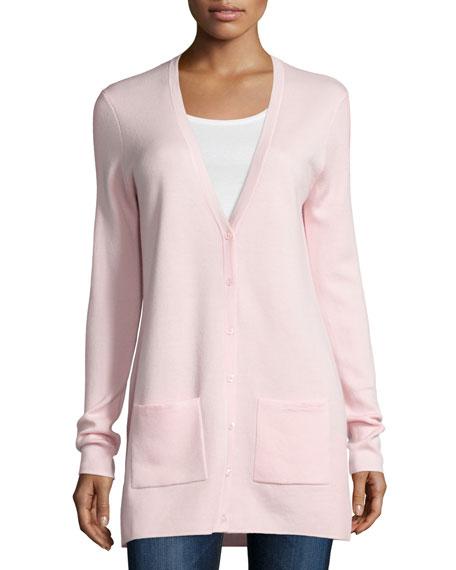 Michael Kors Collection Cashmere Button-Front Cardigan, Blush