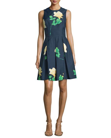 Michael Kors Collection Sleeveless Floral-Print Dance Dress,