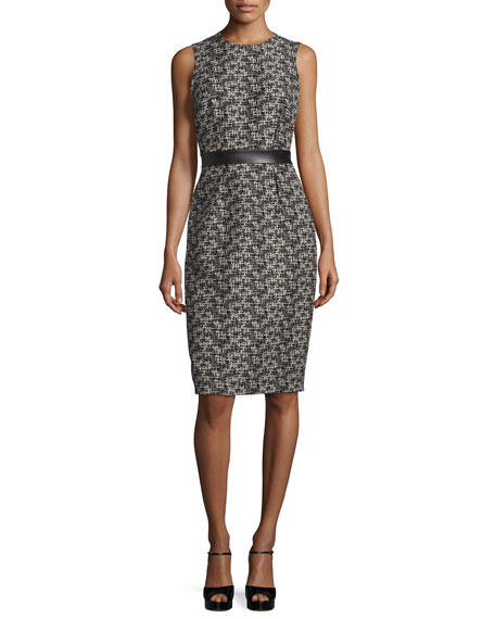 Michael Kors Collection Sleeveless Banded-Waist Sheath Dress,