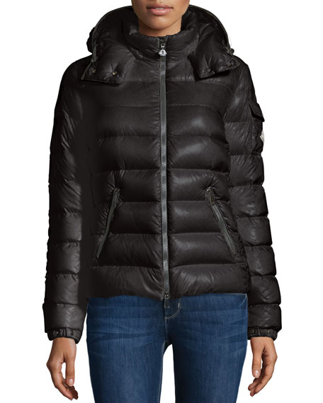Moncler Bady Short Puffer Jacket, Black