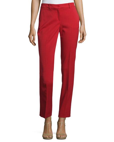 Michael Kors Samantha Skinny Ankle Pants, Crimson
