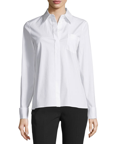 Michael Kors Collection Long-Sleeve French-Cuff Shirt, Optic