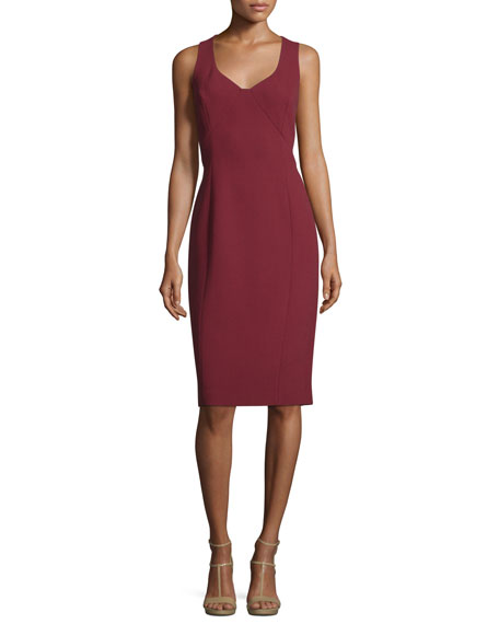 Michael Kors Collection Sleeveless Sweetheart-Neck Sheath Dress,