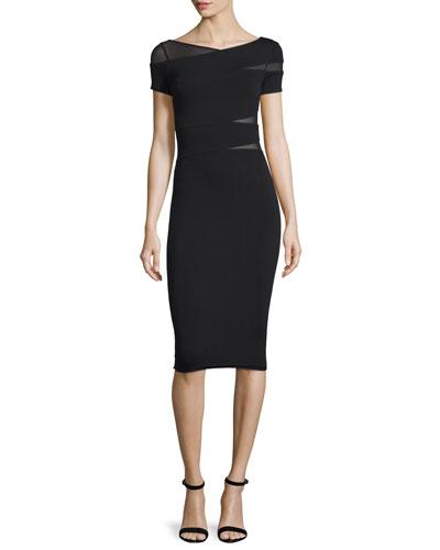 Delap Wrap-Front Sheath Dress