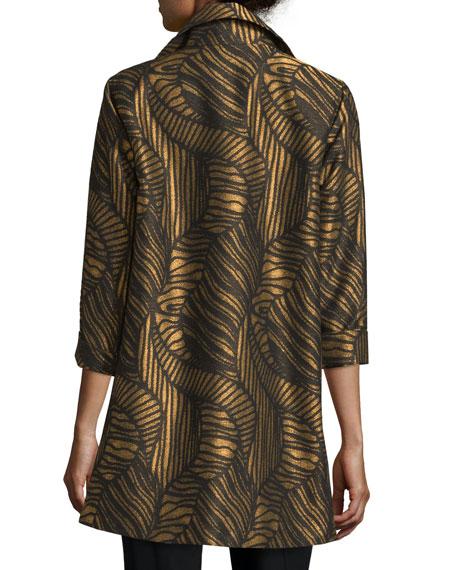 Waves Jacquard Party Jacket, Plus Size
