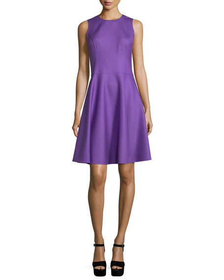 Michael Kors Collection Sleeveless Fit-&-Flare Dress, Lilac