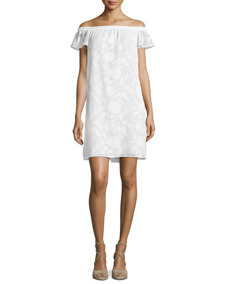 Cooper & Ella Victoria Off-The-Shoulder Shift Dress, White