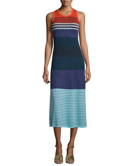 Parker Rosie Sleeveless Colorblock Midi Dress, Multi Colors