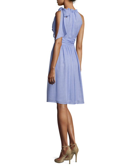 Sleeveless Halter-Neck Dress, Wisteria