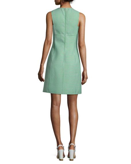 Sleeveless Gingham A-Line Dress, Lawn