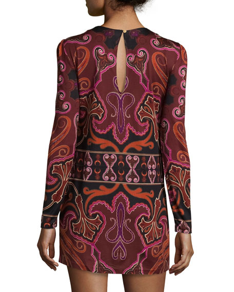 Magnus Paisley Silk-Jersey Minidress