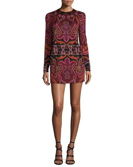 Rachel Zoe Magnus Paisley Silk-Jersey Minidress