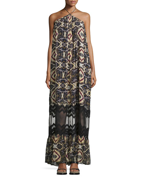 Cecilia Sleeveless Maxi Dress, Savanna Print