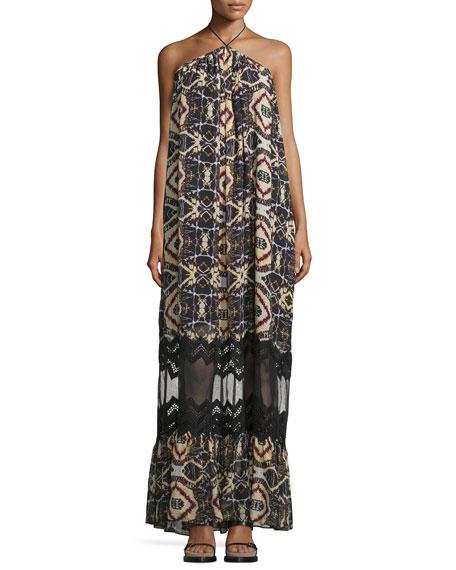 Tryb Cecilia Sleeveless Maxi Dress, Savanna Print