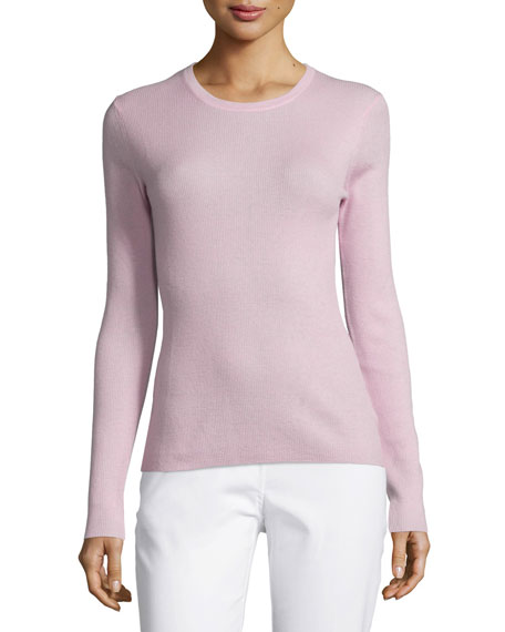 Michael Kors Collection Jewel-Neck Cashmere Sweater, Oleander