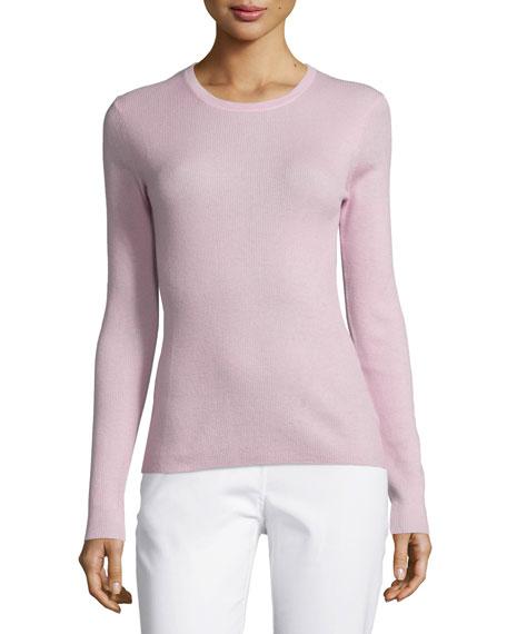 Michael Kors Collection Jewel-Neck Cashmere Sweater, Oleander