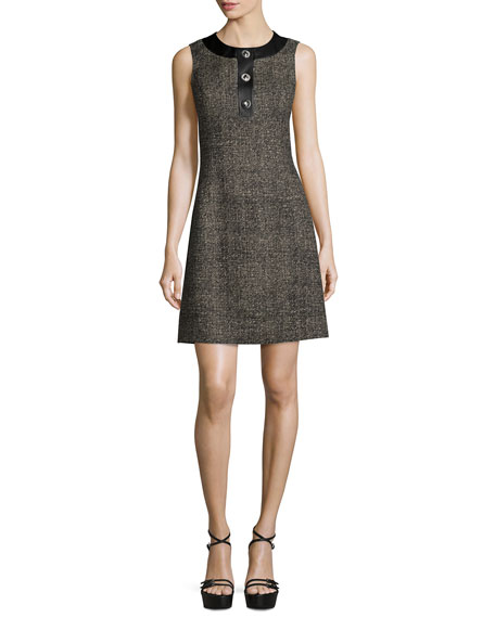 Michael Kors Collection Sleeveless Button-Front A-Line Dress,