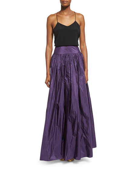Michael Kors Collection High-Waist Full Skirt, Blackberry