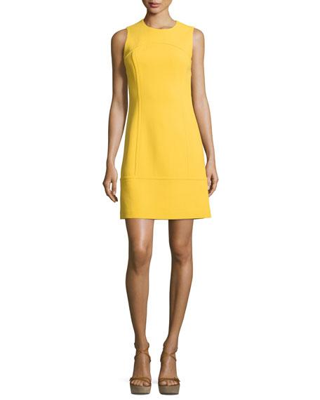 Michael Kors Collection Sleeveless Jewel-Neck Sheath Dress,