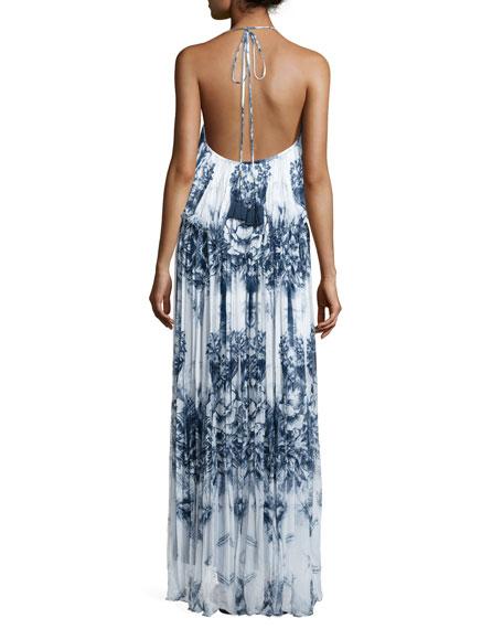 Mariah Floral-Print Maxi Dress, Malibu Print