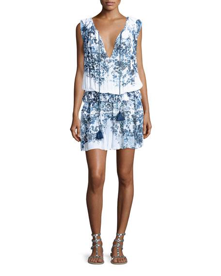 Ebony Sleeveless Blouson Dress, White