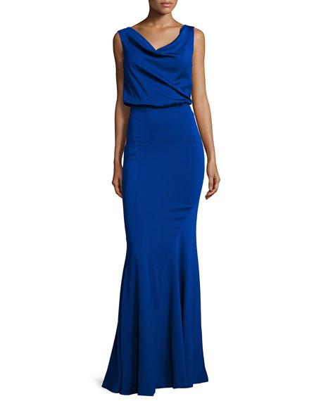 Nicole Miller Sleeveless V-Neck Mermaid Dress